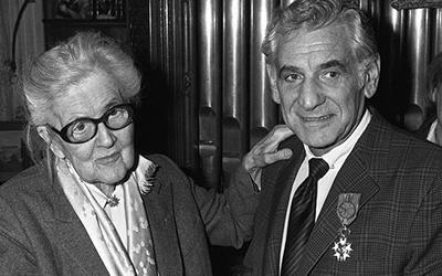 Nadia Boulanger and Leonard Bernstein